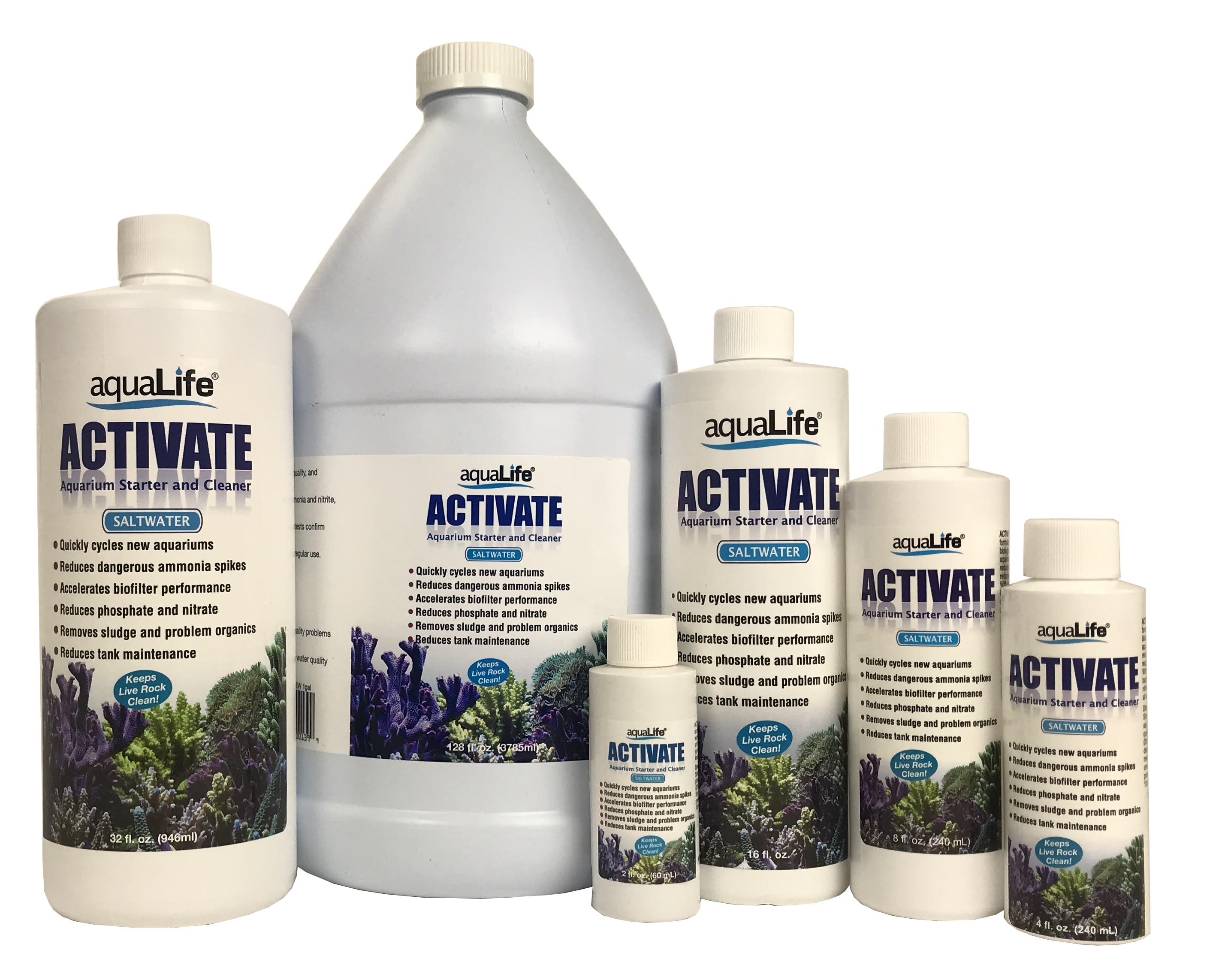 Activate Saltwater 8 oz Aquarium Starter and Cleaner
