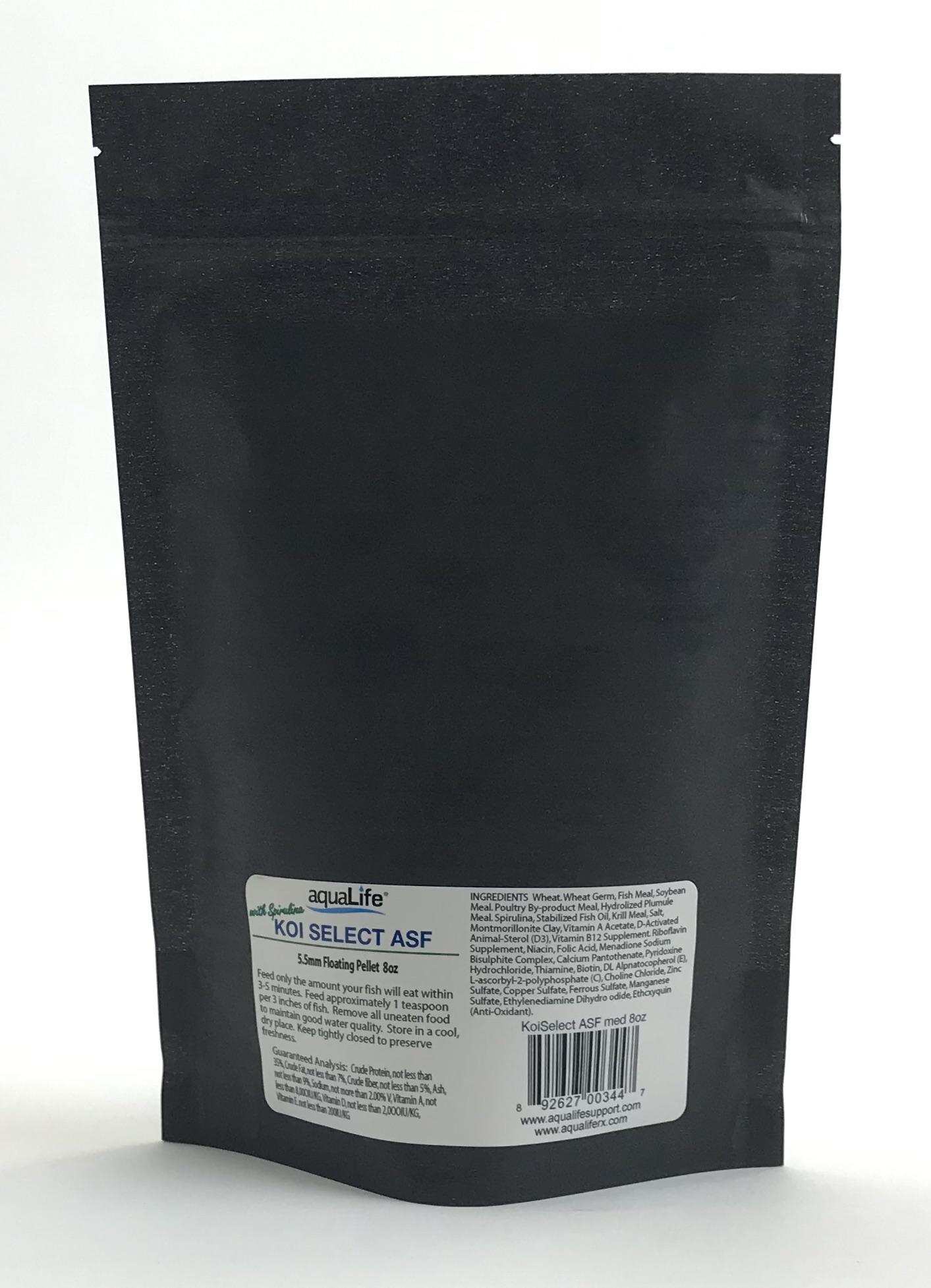 8 oz Medium Koi Select ASF Premium Koi Food