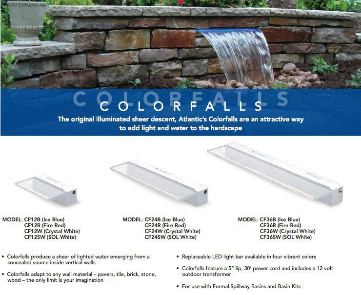 Color Falls Lighted Falls 24 Ice Blue