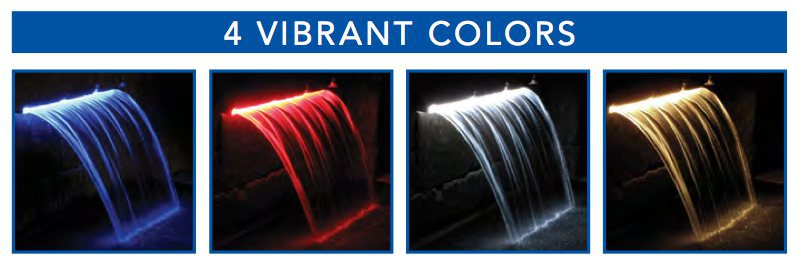 Color Falls Lighted Falls 24 Crystal White