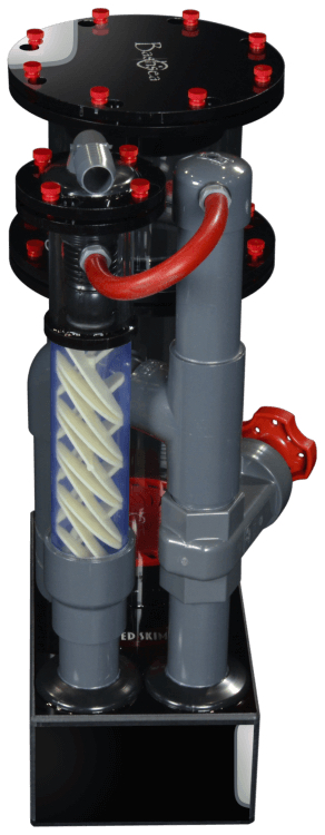 Bashsea Twisted Skimmer 6-24 up to 150 Gallons Black/Red