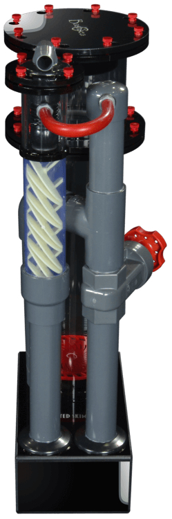 Bashsea Twisted Skimmer 6-30 up to 225 Gallons Black/Red
