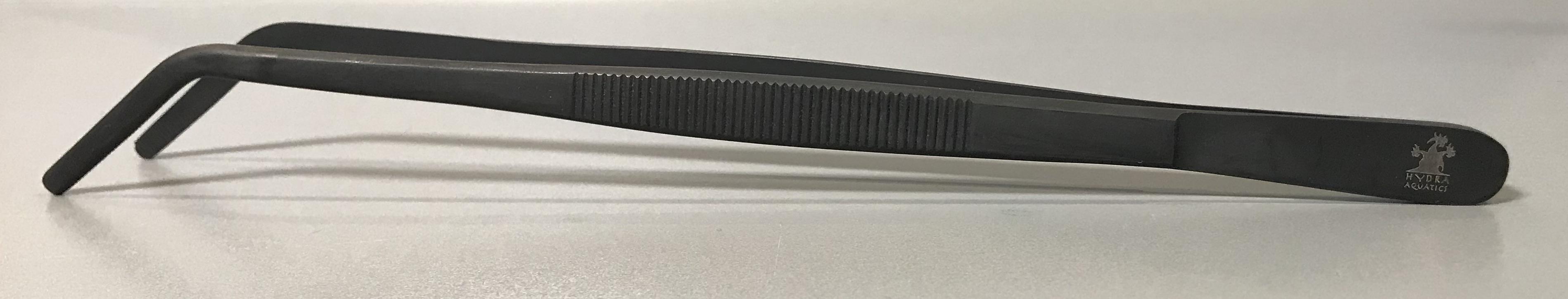 Grip Pinsette Tweezers Curved - Black Oxide - 10