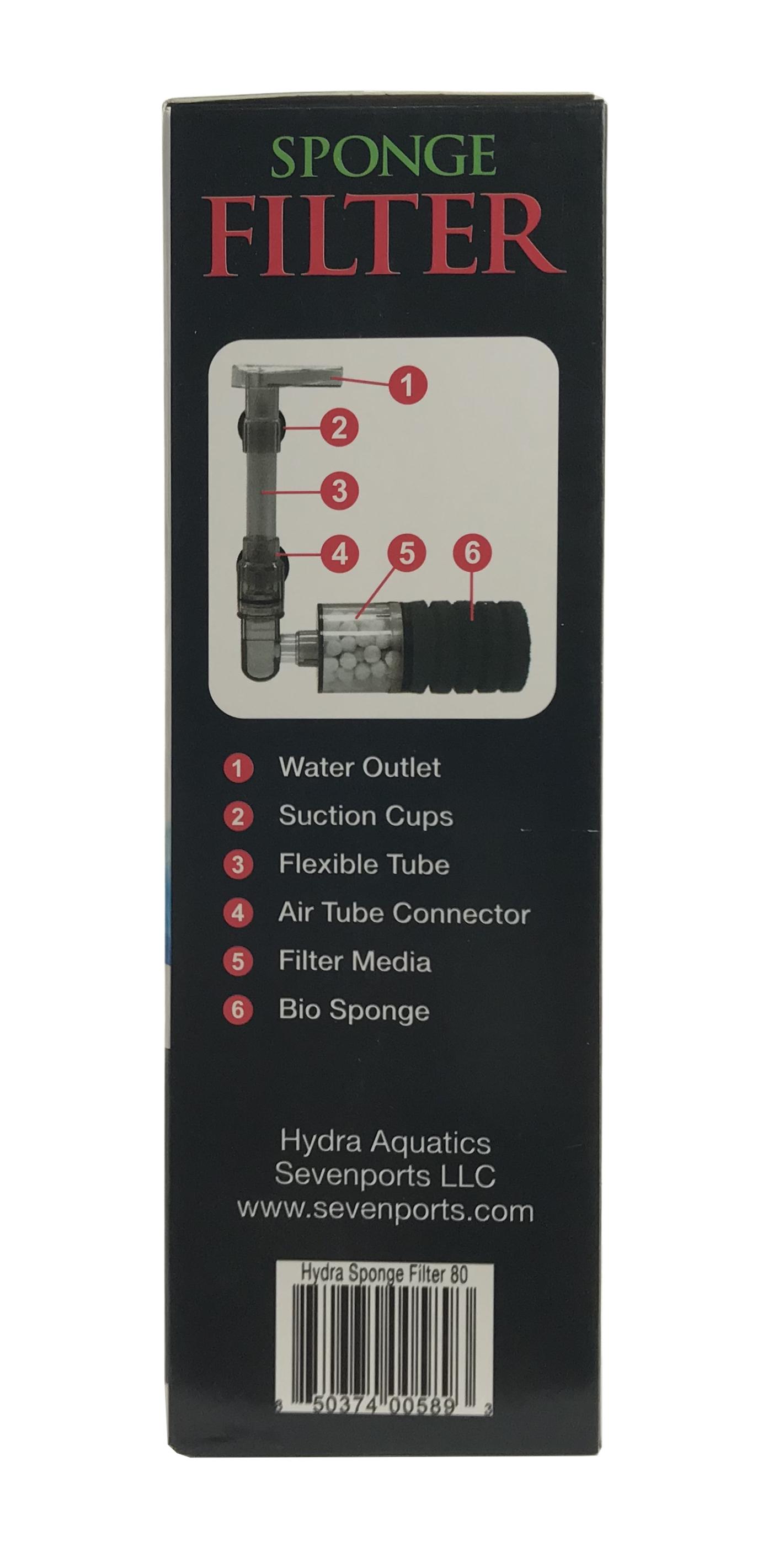Hydra High Efficiency Sponge Filter 80