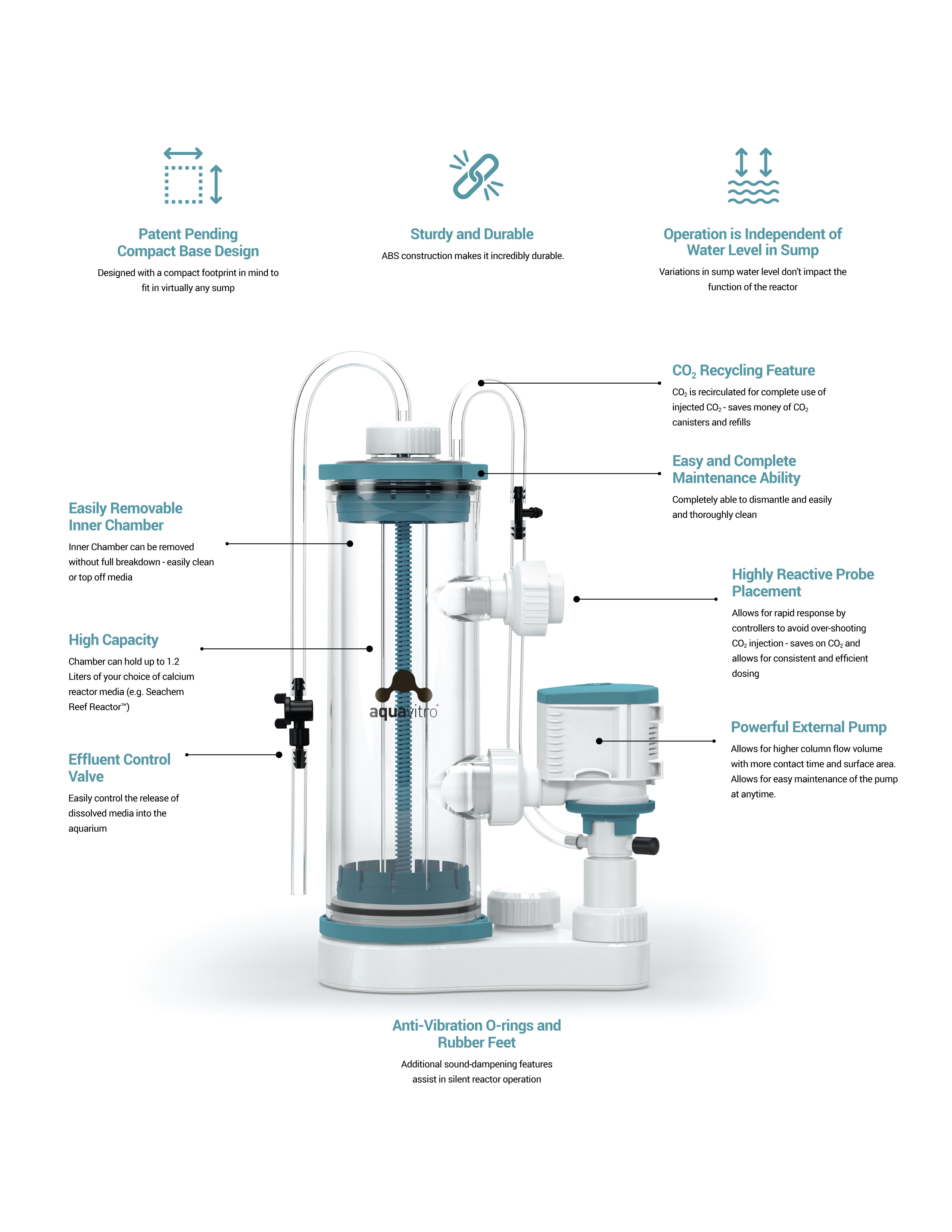 Aquavitro Element Ca Reactor Calcium Reactor