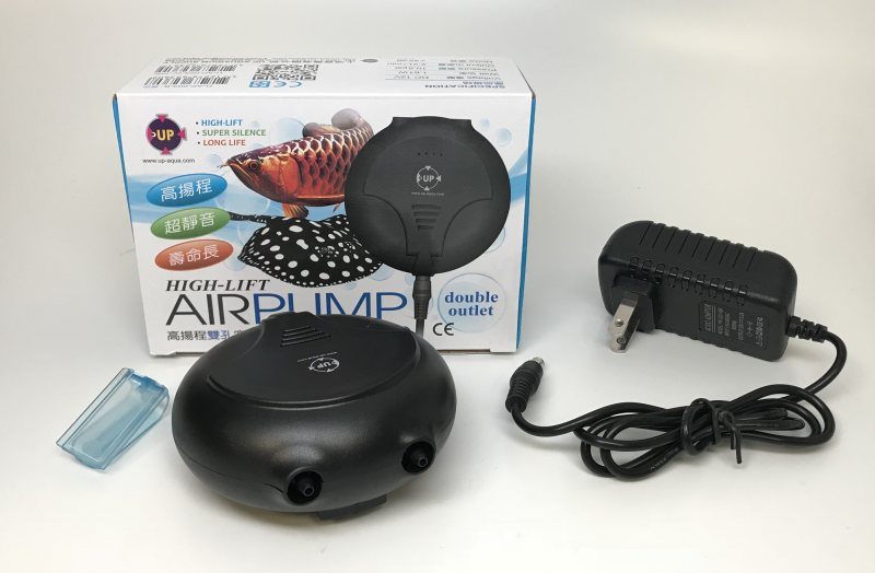 High-lift Double Outlet Mini Air Pump - Black