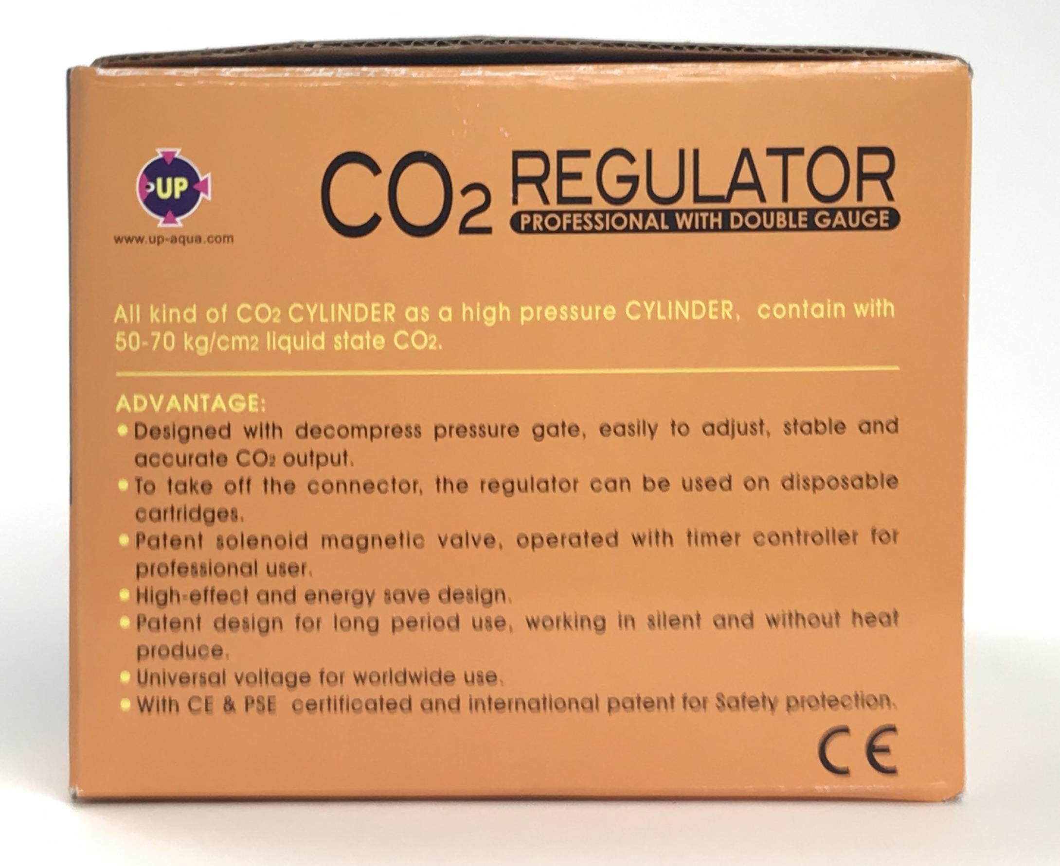 CO2 Regulator - Preset Valve + 2 Gauges with Solenoid