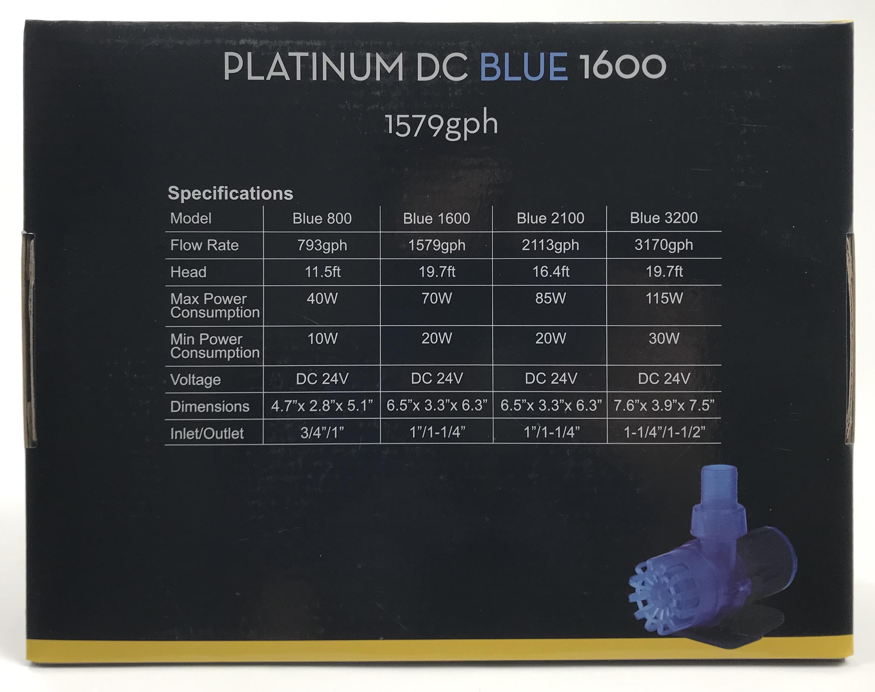 Platinum DC Blue 1600 Pump - 1579 gph
