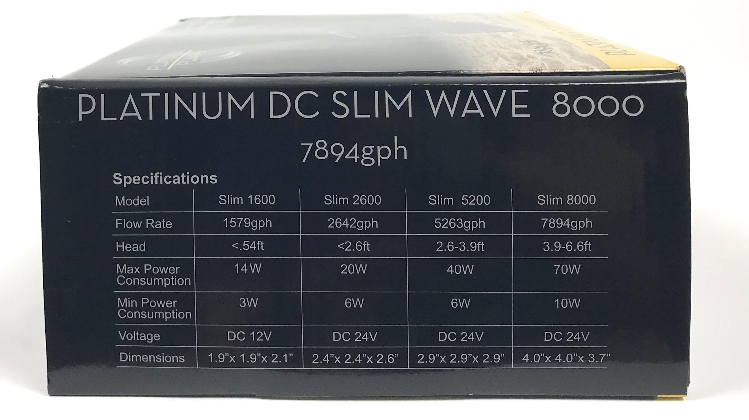 Platinum DC Slim Wave 8000 Pump - 7894 gph